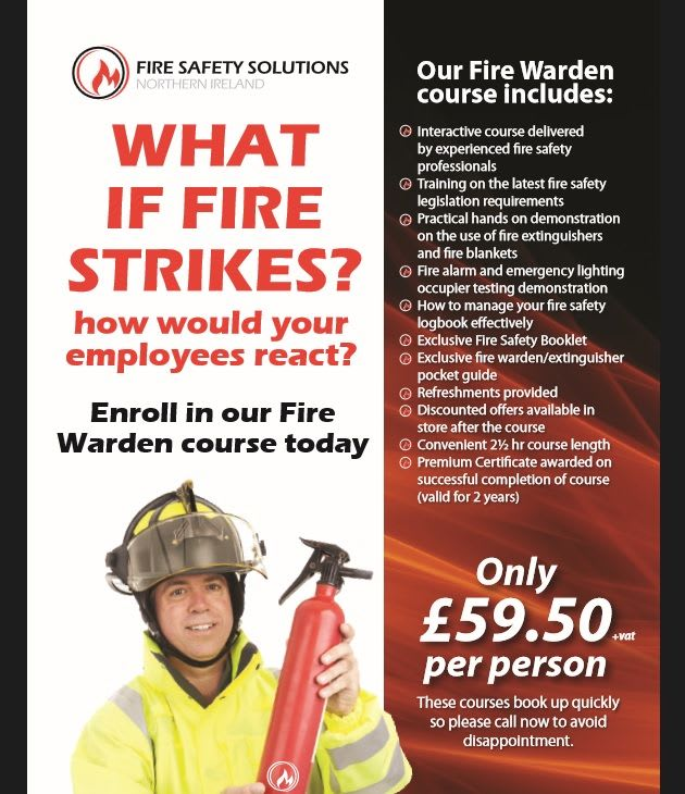 Flyer Fire Warden Training dates 2015
