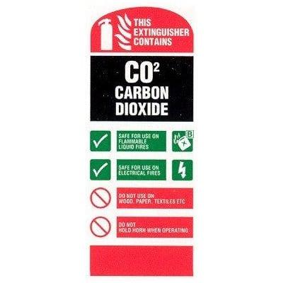 C02 extinguisher sign