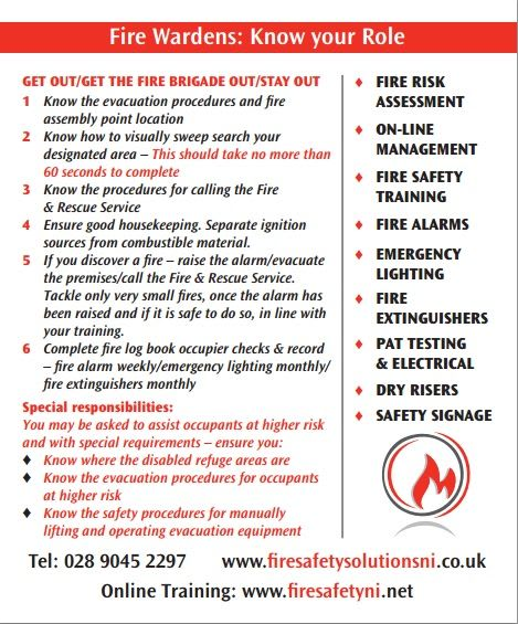 Guide Fire Warden Role Card