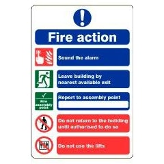Fire action notice (assembly point)