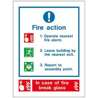 Fire action notice (call point)