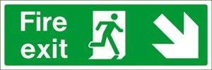 Fire Exit Arrow Right Down