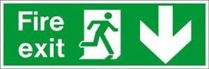 Fire Exit Arrow Down