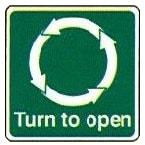 Turn to open anti clockwise