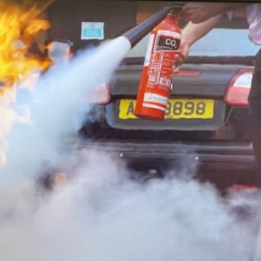 Fire Extinguisher Use & Live Fire Training