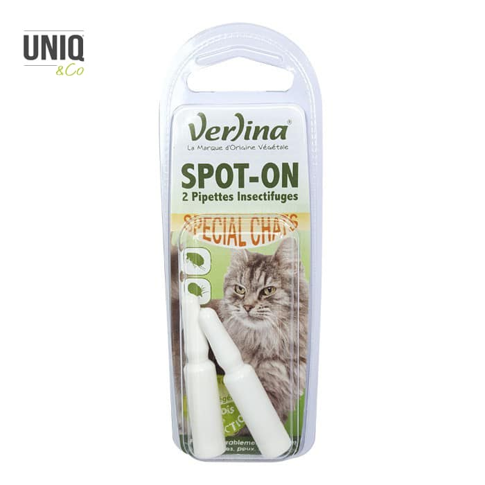Spot-On (2 pipettes insectifuges) Chats 2 x 0,6 ml VERLINA