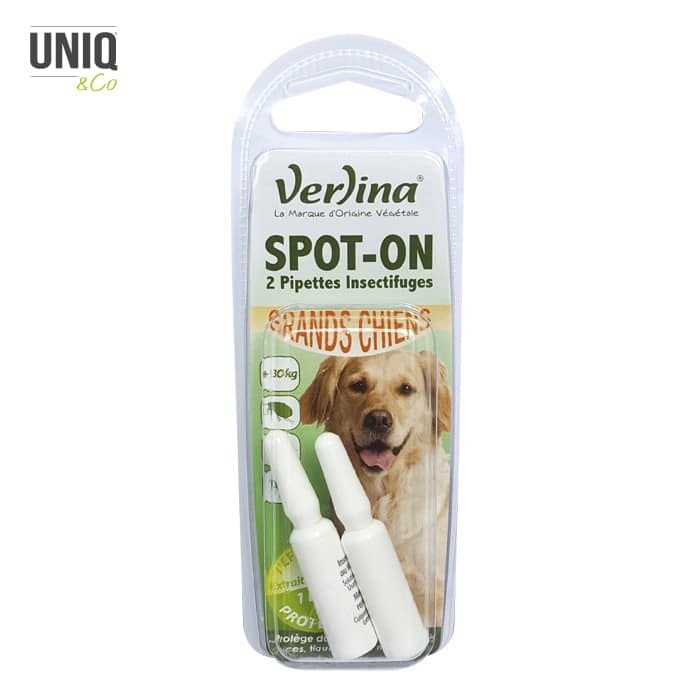 Spot-On (2 pipettes insectifuges) Grands Chiens 2 x 1,5 ml VERLINA