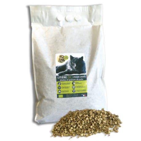 Litière Bio pour chats / compostable et 100% biodégradable