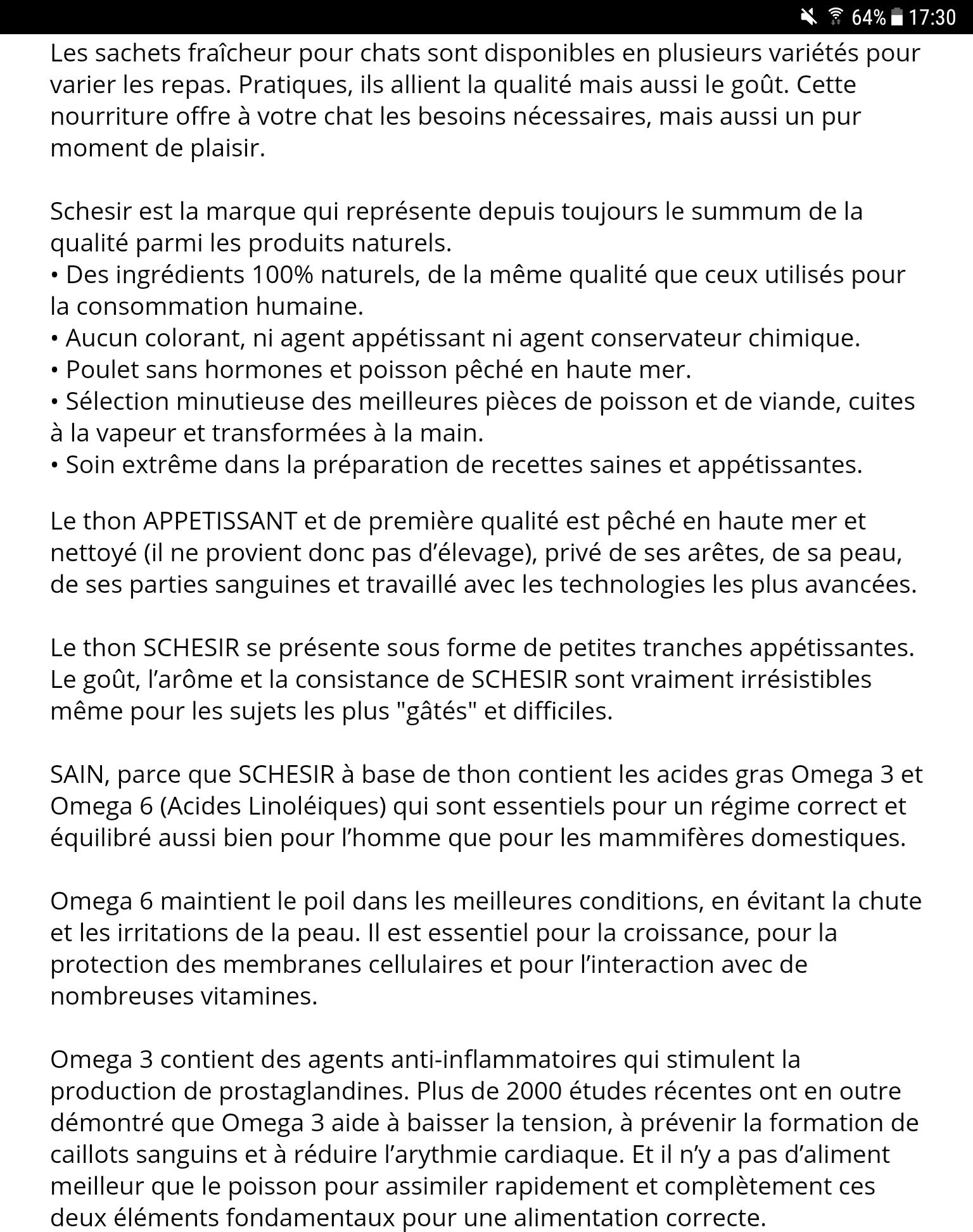 Sachet Faîcheur Shésir Chat Thon Saumon