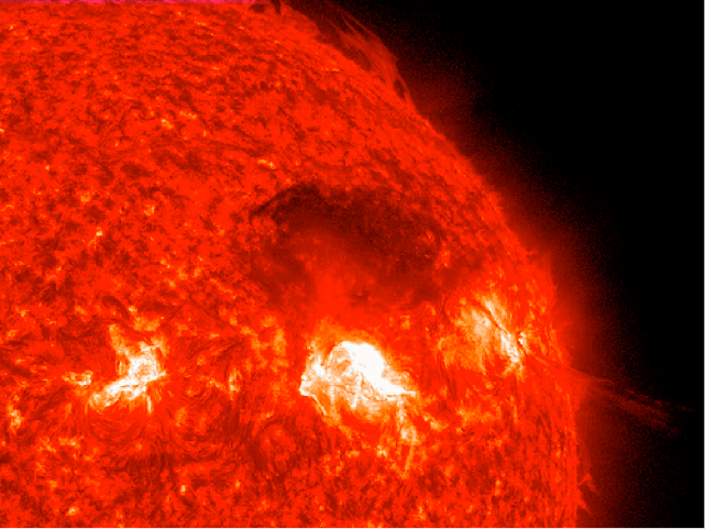 Close view of sun surface