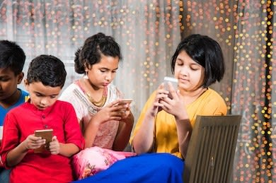 technology-spoiling-indian-childhood-kids-260nw-697971706