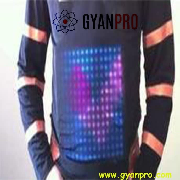 T shirt with leds