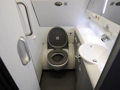 toilet in aeroplane