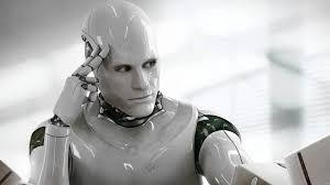 A image of robot thinking like a human