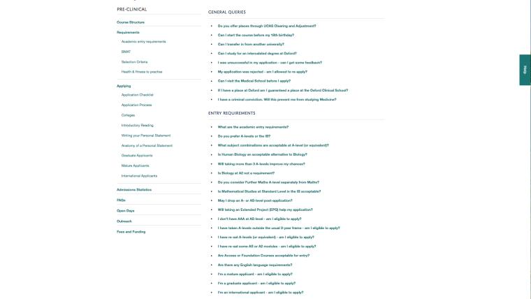Automatic FAQ Webpage