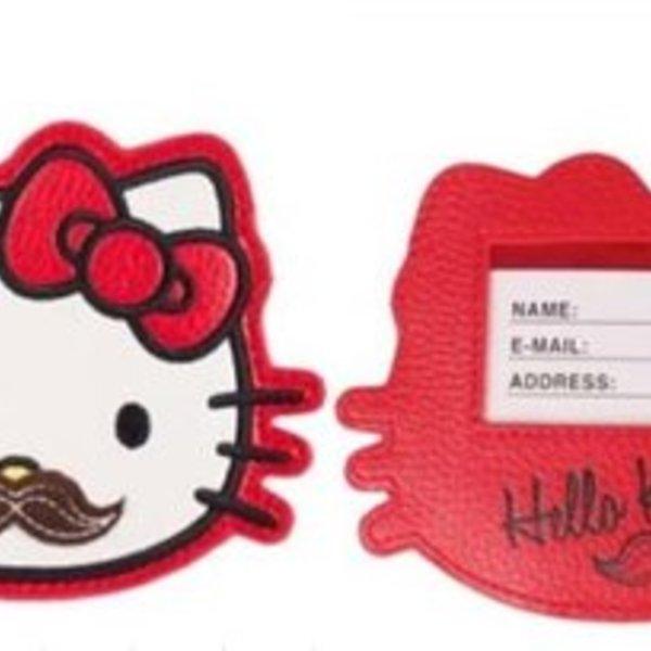 Hello Kitty Moustache Tag