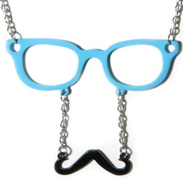Glasses Moustache Necklace