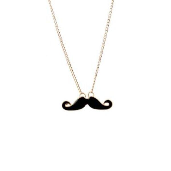 Moustache Pendant Necklace