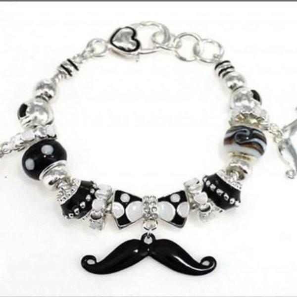 Many Moustaches Bracelet