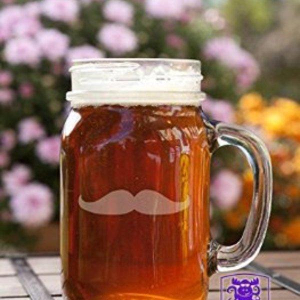 Moustache Mason Jar