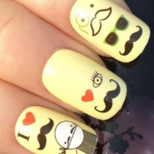 Moustache Press-On Nails