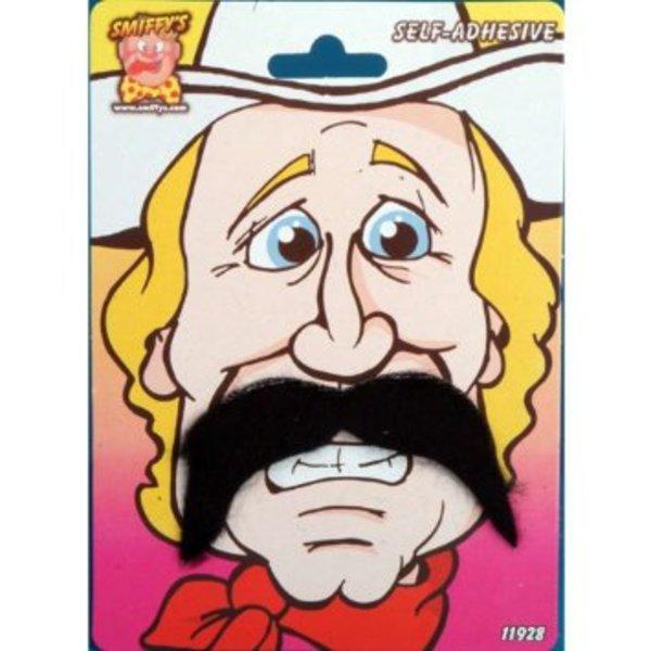 Brown Cowboy Fake Moustache