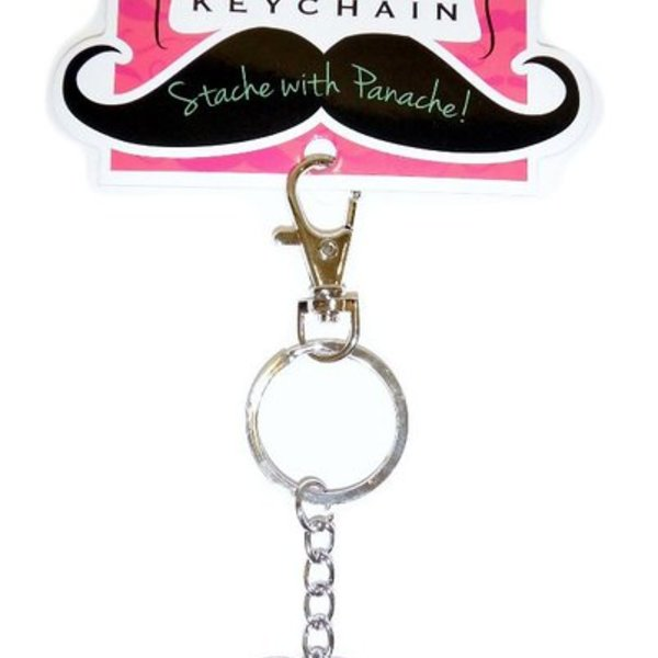 Colourful Moustache Keyrings