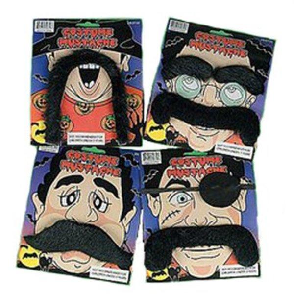 Dozen Black Fake Moustaches