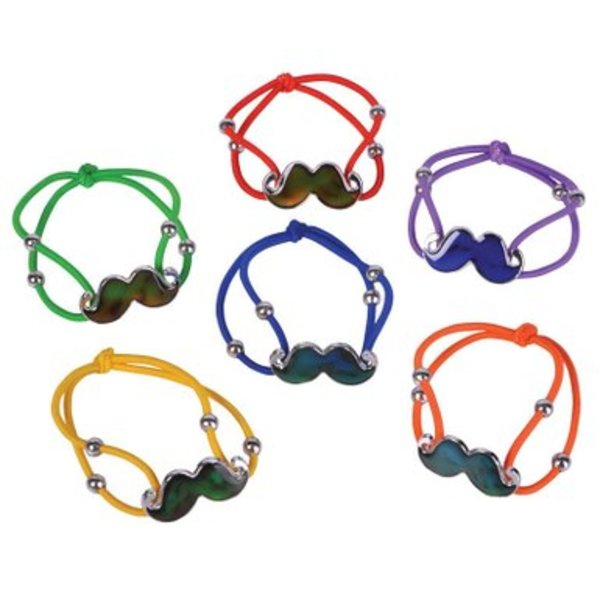 Leather Moustache Bracelet