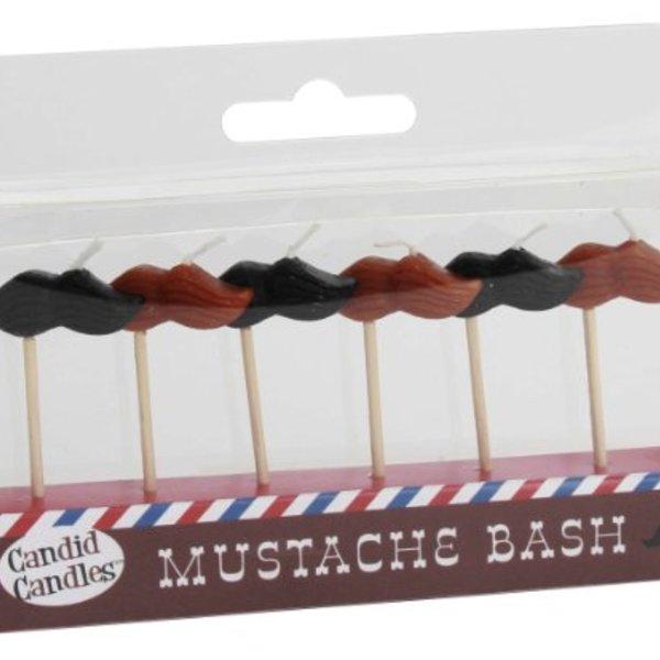Mini Moustache Candles