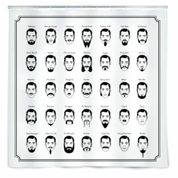 Moustache Shower Curtain