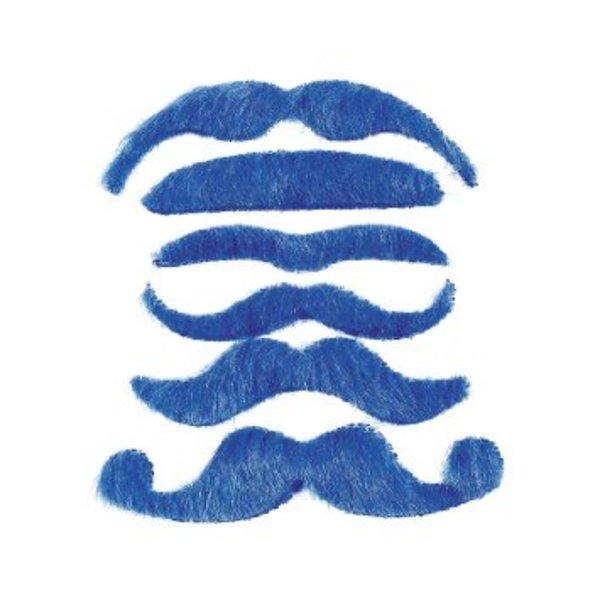 Blue Fake Moustaches