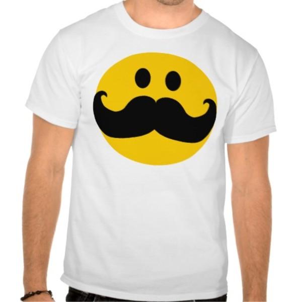 Moustache Smiley T-Shirt