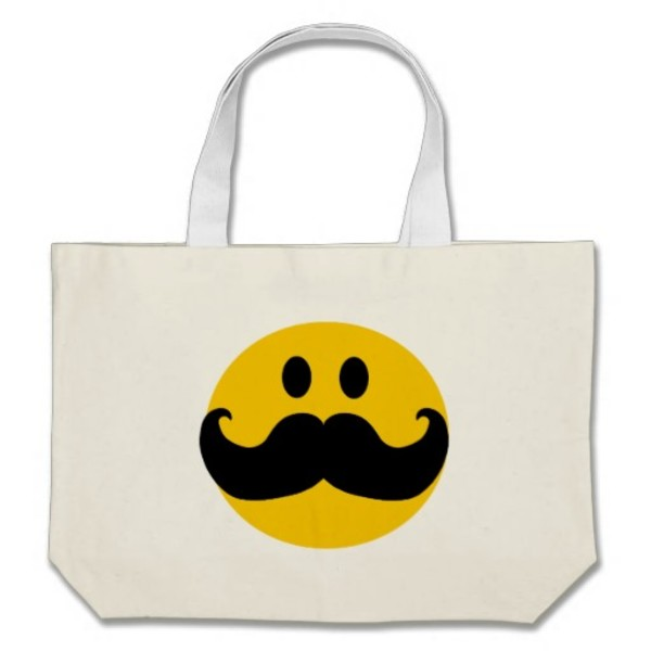Smiley Moustache Bag