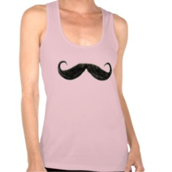 Moustache Tank Top