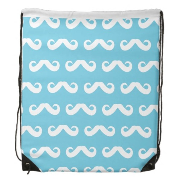 Blue Moustache Backpack