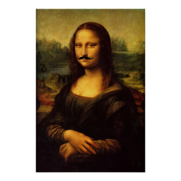 Mona Lisa Moustache Poster