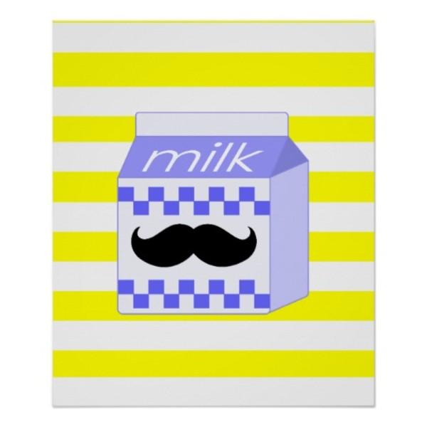 Milk Moustache Poster