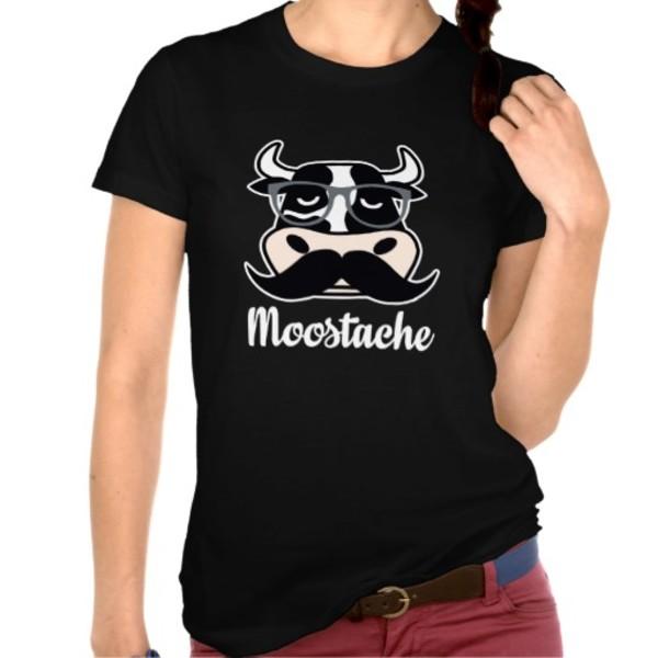 Merry Moostache T-Shirt