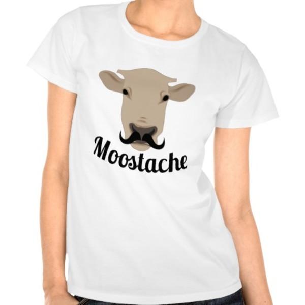 Cow Moustache T-Shirt