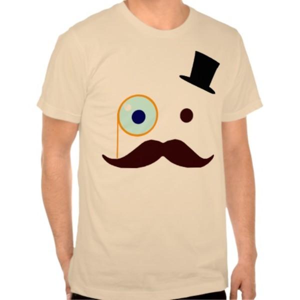 Monocle Moustache T-Shirt