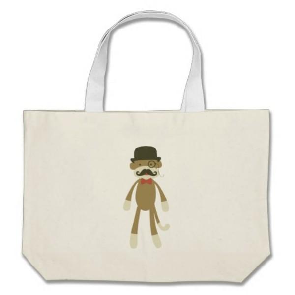 Moustache Monkey Bag