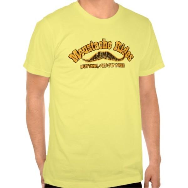 10c Moustache Rides T-Shirt