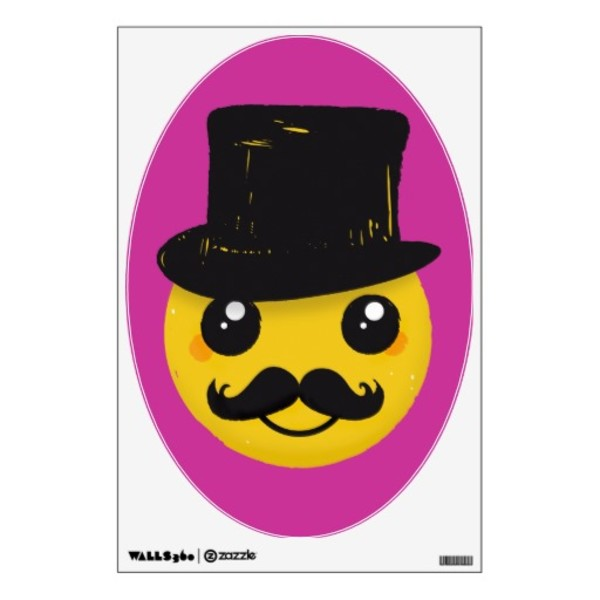 Mr Smiley Moustache Decal