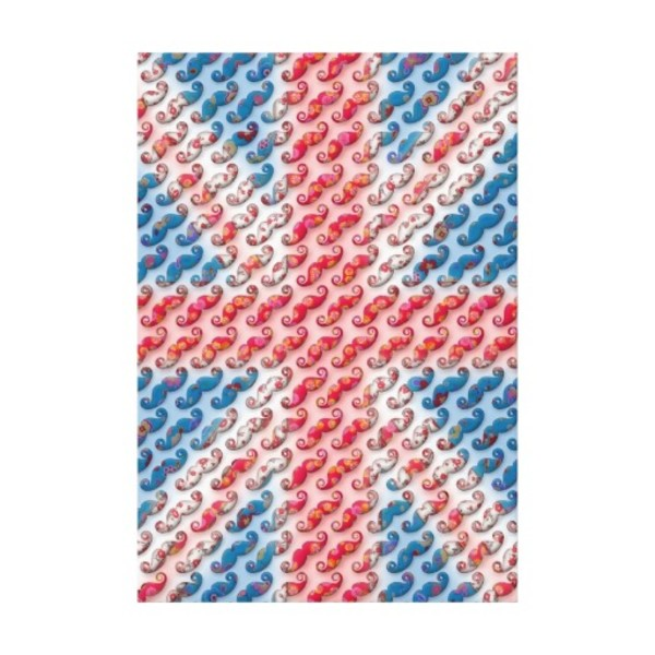 Moustache British Flag Canvas