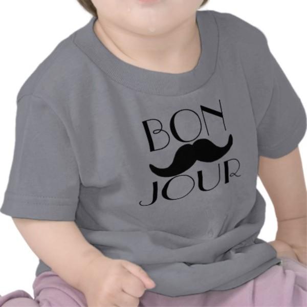 Bonjour Baby Moustache T-Shirt