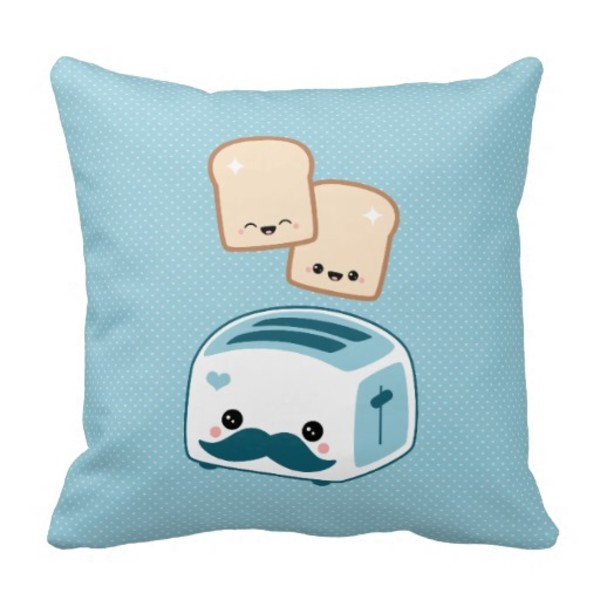 Moustache Toaster Pillow