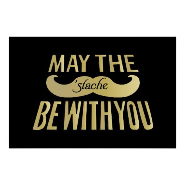 Star Wars Moustache Poster