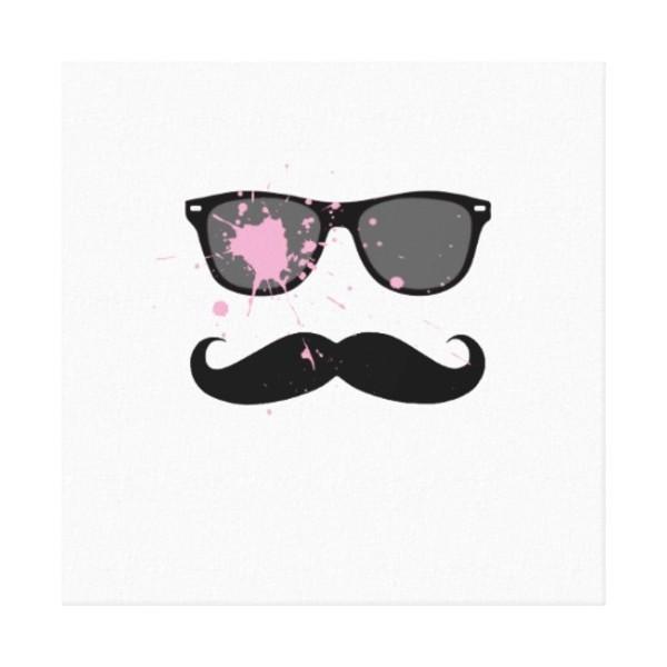 Moustache Sunglasses Canvas