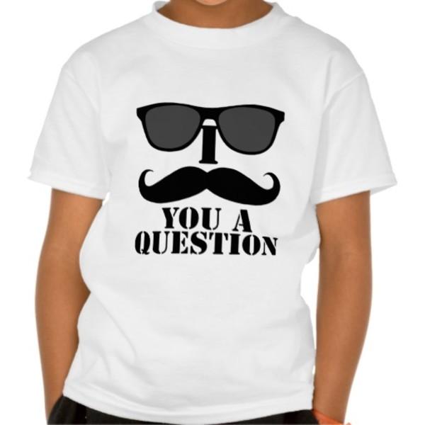 Moustache Question T-Shirt